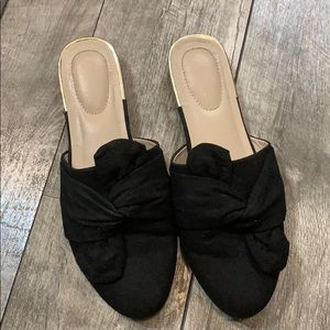 Black Mule Fashion Flats